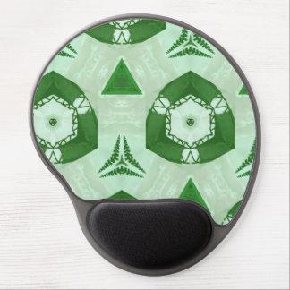 green modern Pattern Gel Mouse Mats