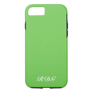 Green Modern Professional With White Monogram iPhone 8/7 Case