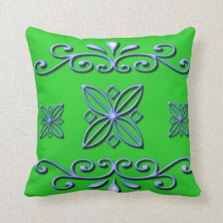 Green Modern Throw Pillow