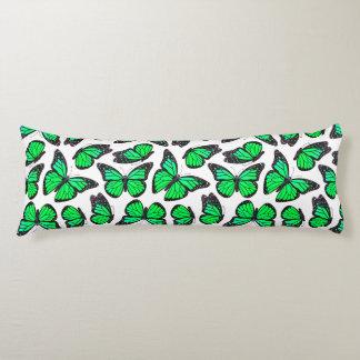 Green Monarch Butterfly Pattern Body Pillow