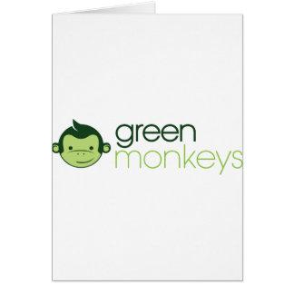 Green Monkeys Greeting Card