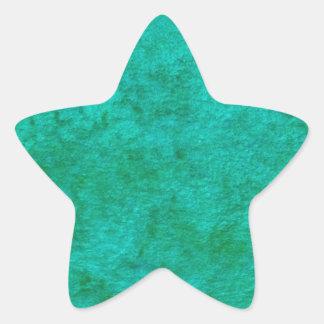 green monochrome pattern star sticker