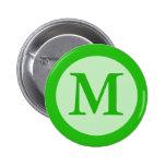 green Monogram Buttons