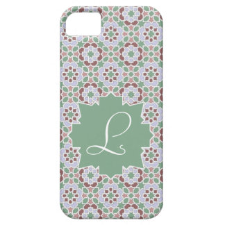 Green Monograma clearly with tile mosaic 7 iPhone 5 Case