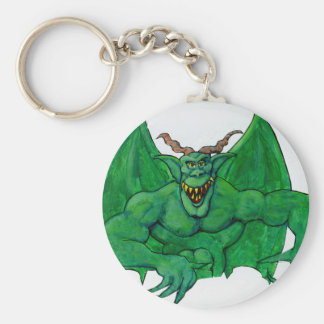 Green Monster Basic Round Button Keychain