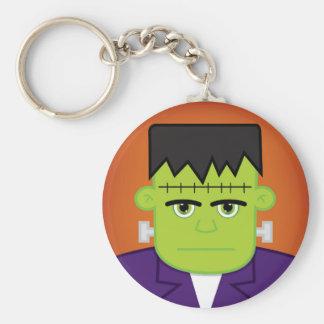 Green monster basic round button keychain
