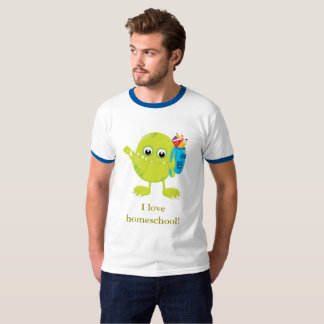 Green Monster Blue and White T-Shirt
