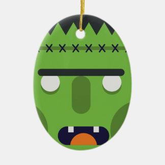 Green Monster Ceramic Ornament