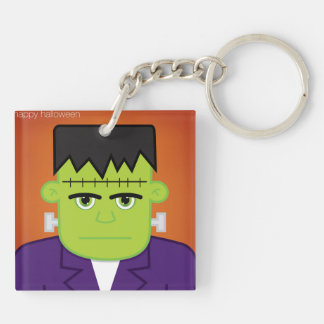 Green monster Double-Sided square acrylic keychain
