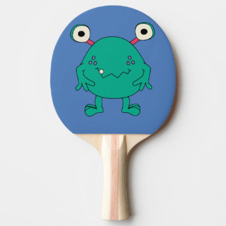 Green Monster Kids Ping Pong Paddle