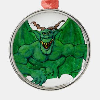 Green Monster Metal Ornament