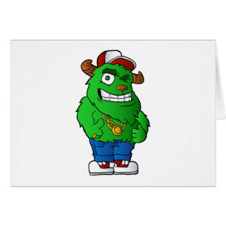 green monster note card