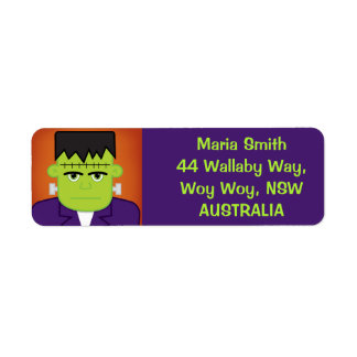 Green monster return address label