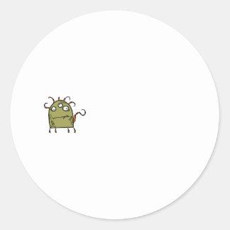 green monster round stickers