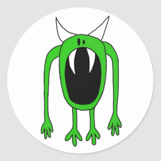 Green Monster Round Sticker