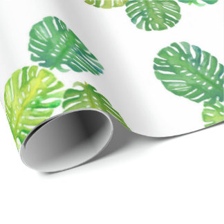 Green Monstera Jungle Gift Wrapping Paper