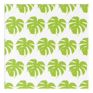 Green monstera tropical leaf pattern acrylic wall art