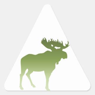 Green Moose Triangle Sticker
