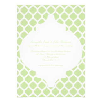 Green Moroccan Pattern Wedding Invitations