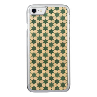 Green Moroccan Star Pattern Carved iPhone 7 Case