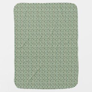 Green Moroccan Star Pattern Stroller Blankets