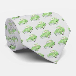Green Morris Minor Car Men's tie