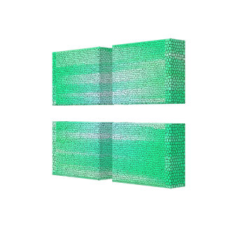 Green Mosaic Abstract Wrapped Canvas-Customizable Canvas Print