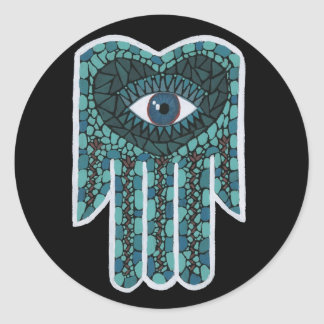 Green Mosaic Hamsa stickers