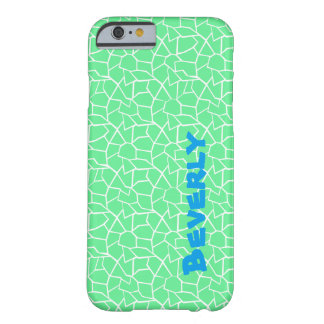 Green Mosaic Name Barely There iPhone 6 Case