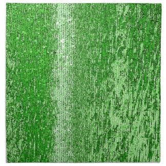 Green mosaic pattern napkins