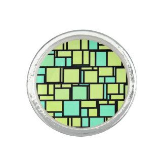 Green Mosaic Tiles Photo Ring