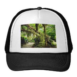 Green Moss Covered Tree Trucker Hat