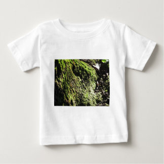 Green moss in nature  Detail of moss covered trunk Baby T-Shirt