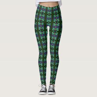 Green Motif Leggings by DelynnAddams