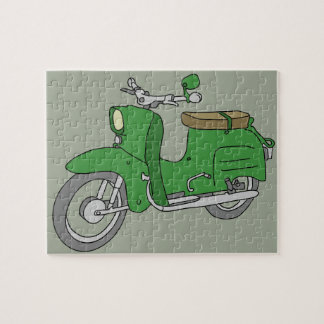 "Green Motorscooter ""Schwalbe"" Jigsaw Puzzle"