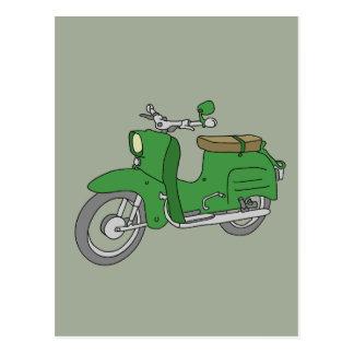"Green Motorscooter ""Schwalbe"" Postcard"