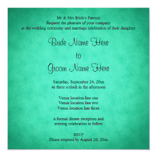 Green Mottled Pattern Wedding Card