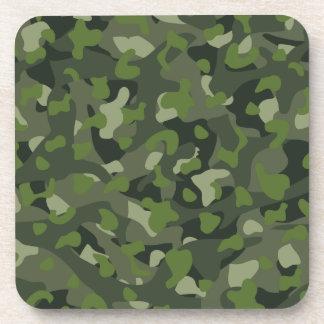 Green mountain disruptive camouflage beverage coaster