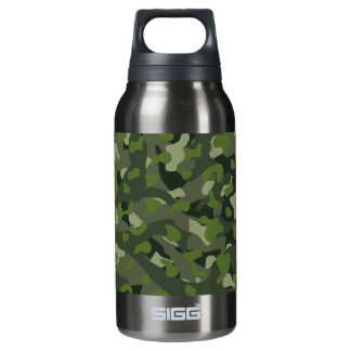 Green mountain disruptive camouflage insulated water bottle