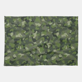 Green mountain disruptive camouflage kitchen towel