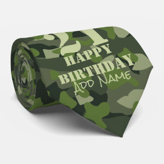 Green mountain disruptive camouflage tie