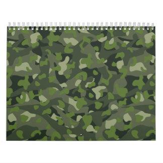 Green mountain disruptive camouflage wall calendar