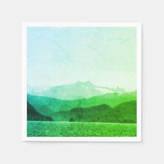 Green Mountains Napkin Paper Napkin