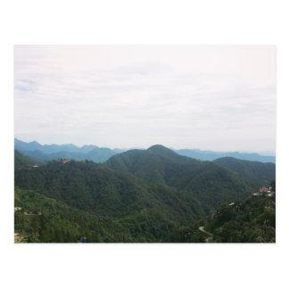 Green Mountains White Sky Postcard