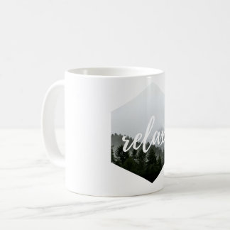 Green mug leaf mountain nature cool this Relax