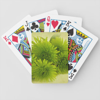 Green Mums Bicycle Playing Cards