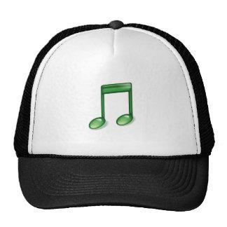 Green Music Note Mesh Hat