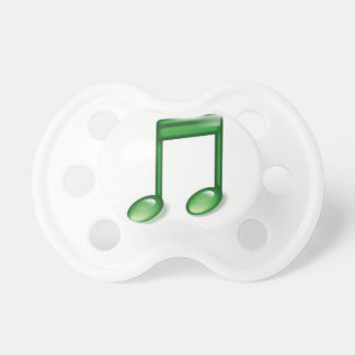 Green Music Note Pacifier