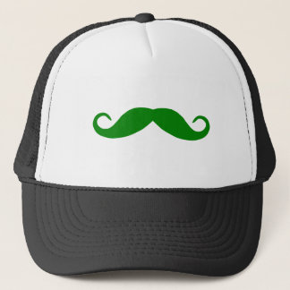 Green Mustache Trucker Hat