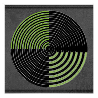 Green n Black - Live Chakra scares Evil Eye Poster